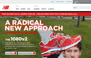 Preview 2 of the New Balance website