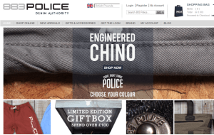Preview 3 of the 883 Police website