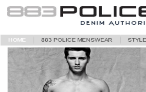 Preview 2 of the 883 Police website