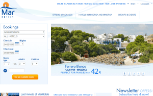 Preview 2 of the MAR Hotels website