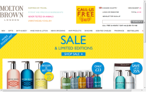 Preview 3 of the Molton Brown website