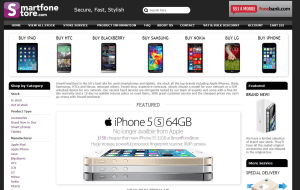 Preview 2 of the Smart Fone Store website