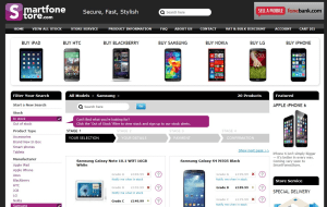 Preview 3 of the Smart Fone Store website
