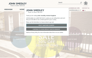 Preview 3 of the John Smedley website