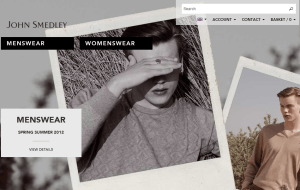 Preview 2 of the John Smedley website