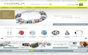 Preview 2 of the Chamilia website