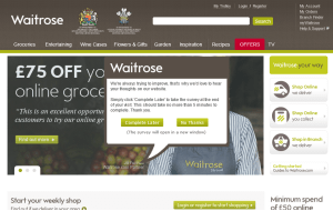 Preview 3 of the Waitrose Groceries website