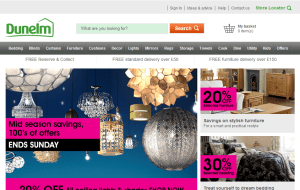 Preview 2 of the Dunelm website