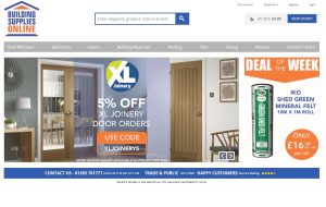 Preview 2 of the Building Supplies Online website
