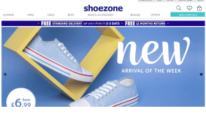 Preview 2 of the Shoe Zone website
