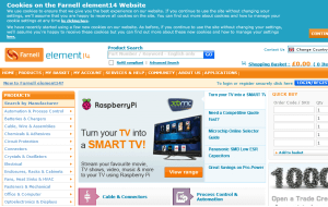 Preview 3 of the Farnell website