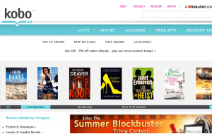 Preview 3 of the Kobo website