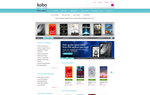Preview 2 of the Kobo website