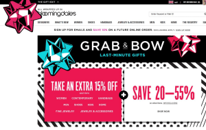 Preview 4 of the Bloomingdales website