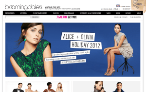 Preview 2 of the Bloomingdales website