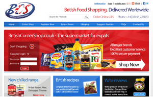 Preview 3 of the British Corner Shop website