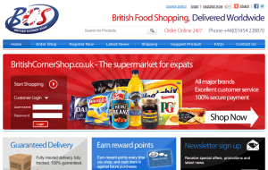 Preview 2 of the British Corner Shop website