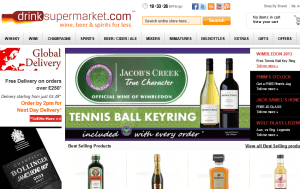 Preview 3 of the Drink Supermarket website