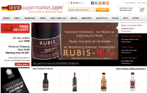 Preview 2 of the Drink Supermarket website