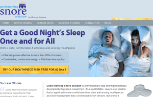 Preview 2 of the Good Morning Snore Solution website
