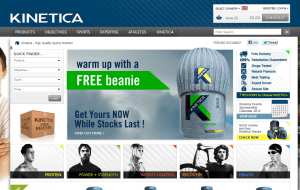 Preview 2 of the Kinetica Sports website