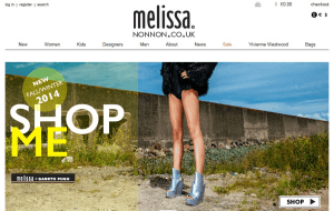 Preview 3 of the Melissa Shoes website
