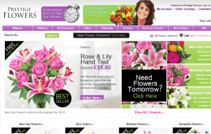 Preview 3 of the Prestige Flowers website