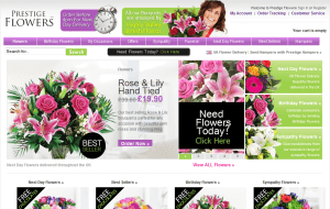 Preview 2 of the Prestige Flowers website