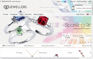 Preview 3 of the QP Jewellers website