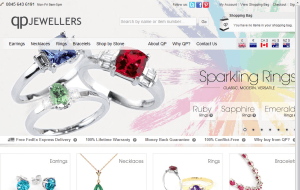 Preview 2 of the QP Jewellers website