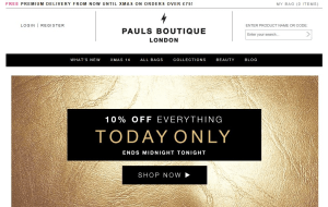 Preview 2 of the Pauls Boutique website