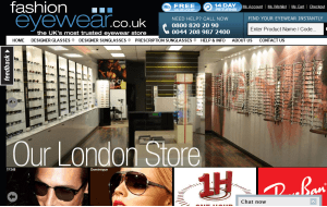 Preview 3 of the Fashion Eyewear website