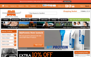 Preview 2 of the Monster Supplements website