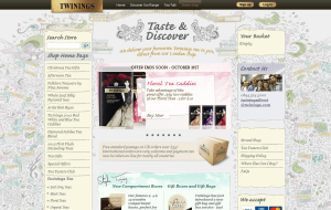Preview 2 of the Twinings website