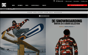 Preview 2 of the DC Shoes website