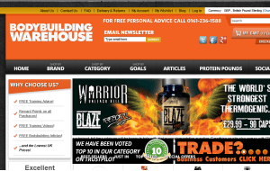 Preview 3 of the Bodybuilding Warehouse website