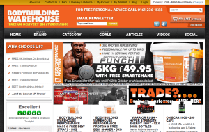 Preview 2 of the Bodybuilding Warehouse website
