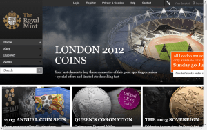 Preview 3 of the Royal Mint website