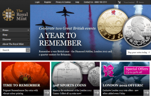 Preview 2 of the Royal Mint website