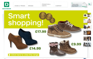 Preview 2 of the Deichmann website
