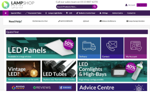 Preview 2 of the Lamp Shop Online website