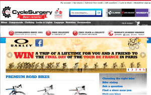 Preview 3 of the Cycle Surgery website