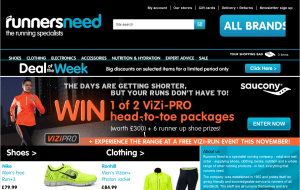 Preview 2 of the Runners Need website