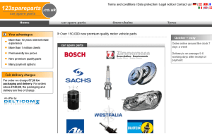 Preview 3 of the 123 Spare Parts website