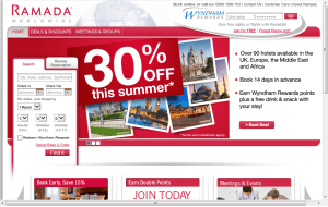 Preview 3 of the Ramada website