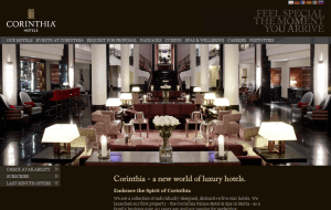 Preview 2 of the Corinthia Hotels website