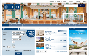Preview 3 of the H10 Hotels website