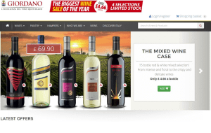 Preview 2 of the Giordano Wine website