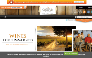 Preview 3 of the Cellar Vie Wines website