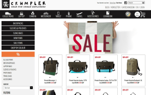 Preview 2 of the Crumpler website